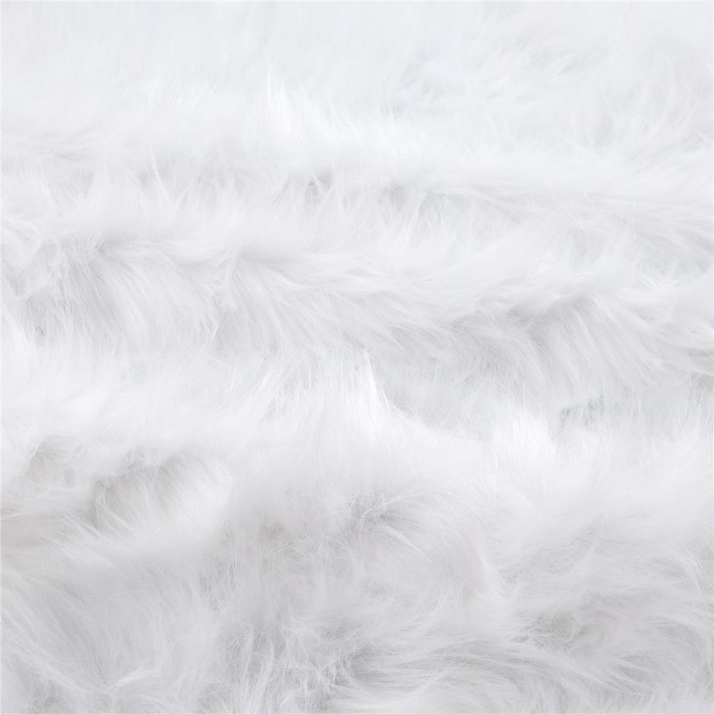 Shannon Faux Fur Monkey White Discount Designer Fabric