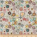 Cha Cha Small Packed Floral White