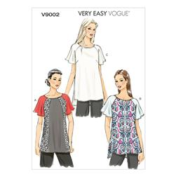 Vogue Misses' Top Pattern V9002 Size B50
