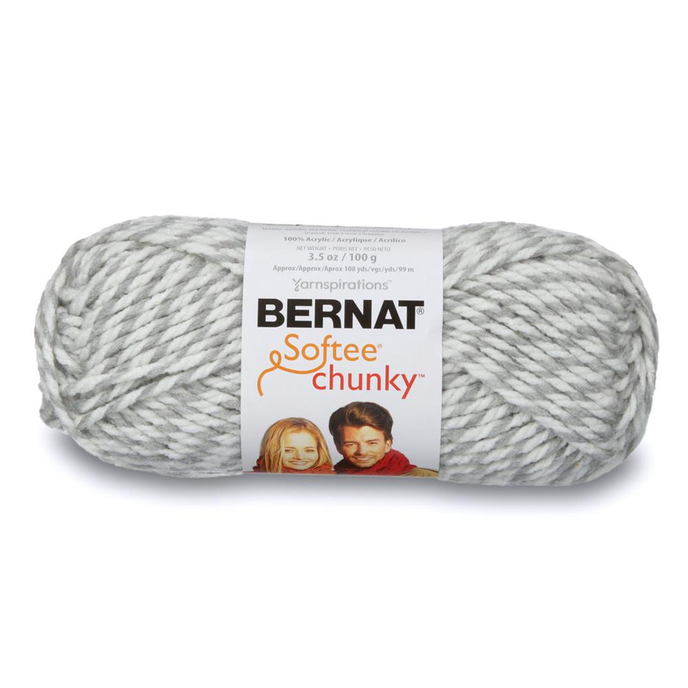 Bernat Softee Chunky Yarn (28047) Grey Ragg
