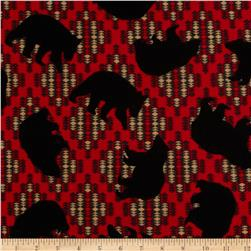 Kanvas Totem Flannel Bear Red