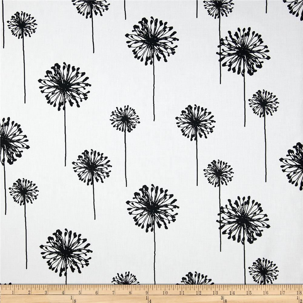 Premier Prints Dandelion White/Black - Discount Designer Fabric ...