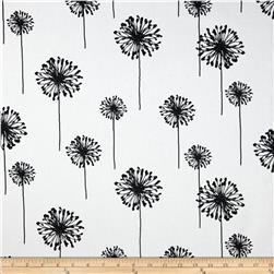 Premier Prints Dandelion White/Black