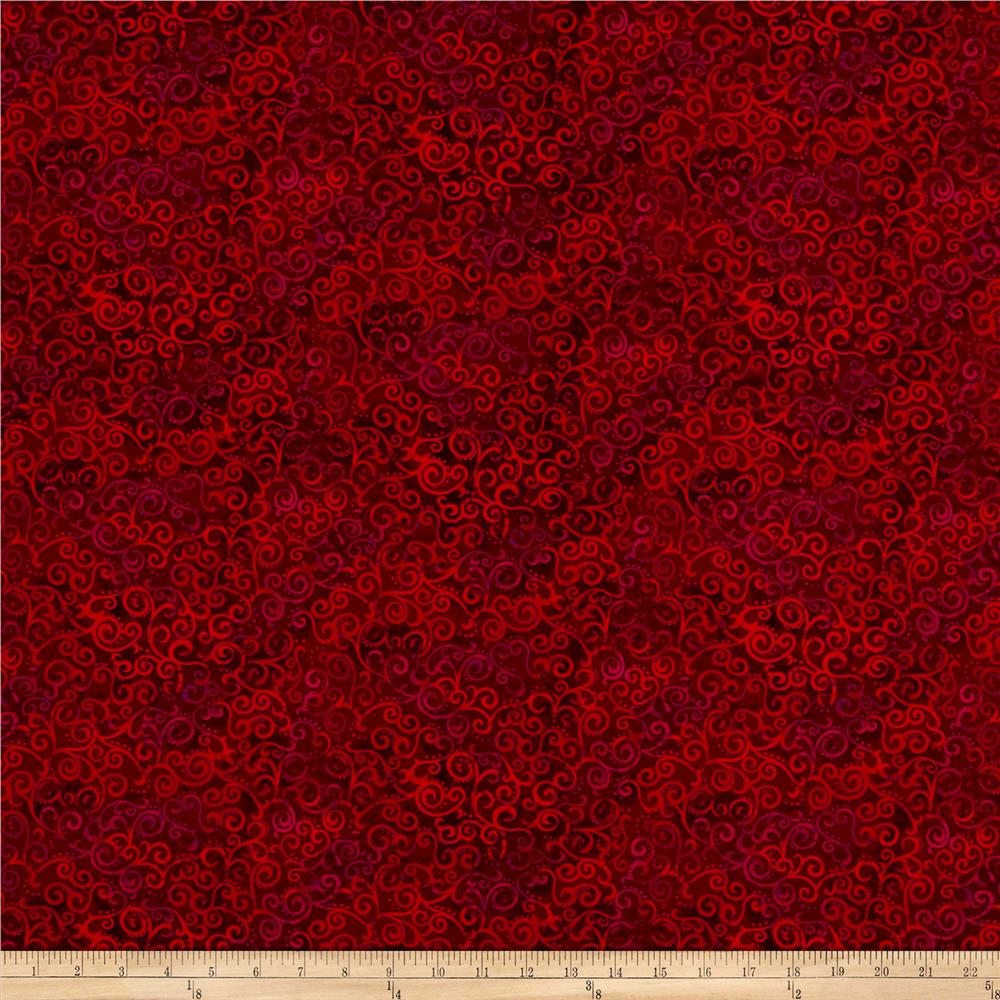 qt fabrics basics ombre scroll ombre blender ruby - discount designer fabric