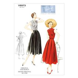 Vogue Misses' Dress and Belt Pattern V8973 Size B50