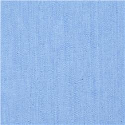 Stretch Denim Light Wash Powder Blue