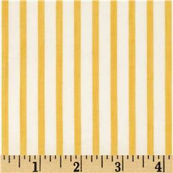 Cotton Lawn Yarn Dyed Stripe Yellow Fabric