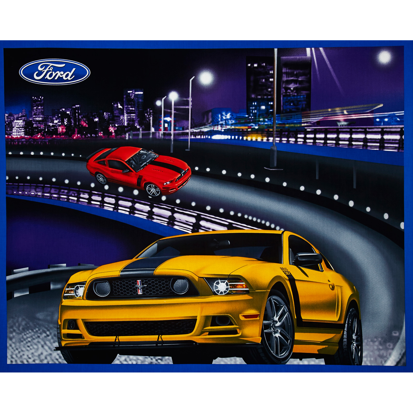 Ford Mustang Collection Panel Black Fabric