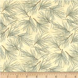 Moda Winter Forest Flannel Needles Eucalyptus