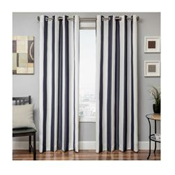 Sunbrella 84'' Grommet Stripe Outdoor Panel Natural/Navy