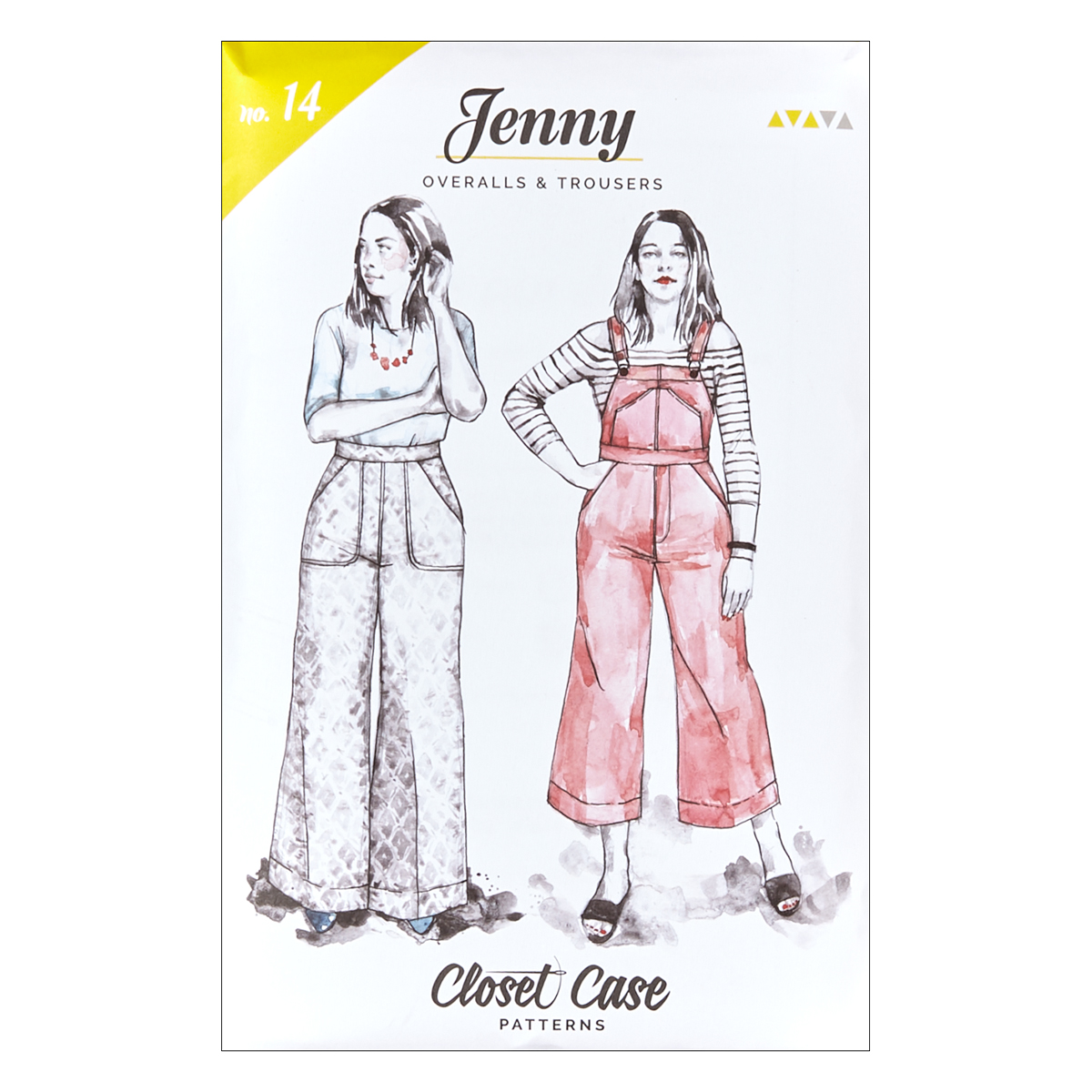 1940s Sewing Patterns – Dresses, Overalls, Lingerie etc Closet Case Jenny Overalls  Trousers $18.00 AT vintagedancer.com