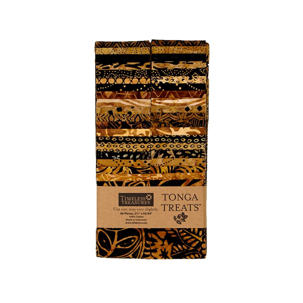 "Timeless Treasures Tonga Batik 2.5"" Strip Packs Chai"