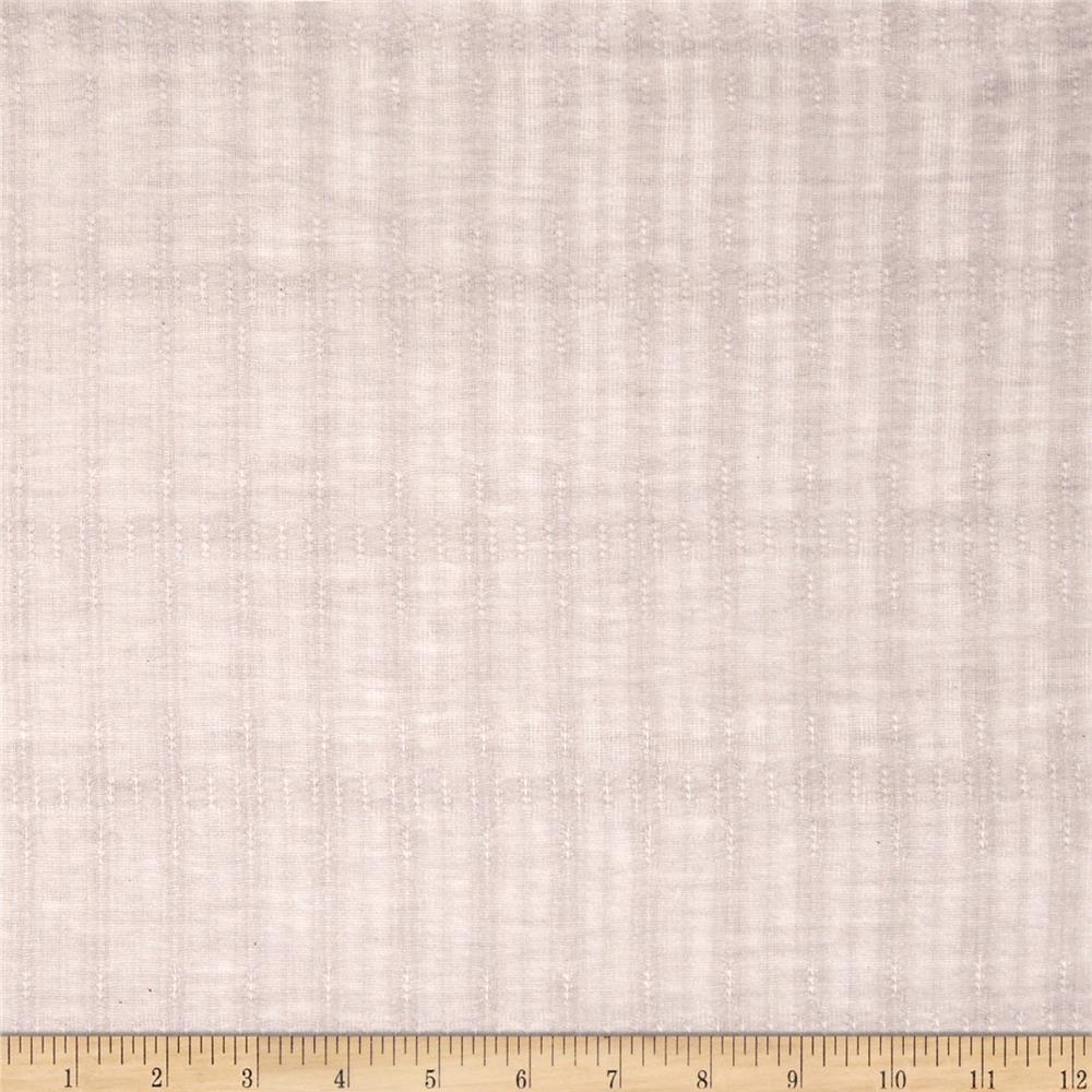 Tissue Pointelle Jersey Knit Taupe Grey