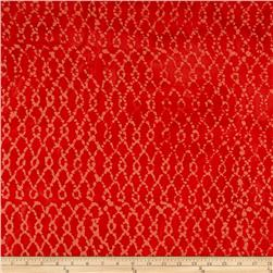 Indian Batik Hollow Ridge Grid Red