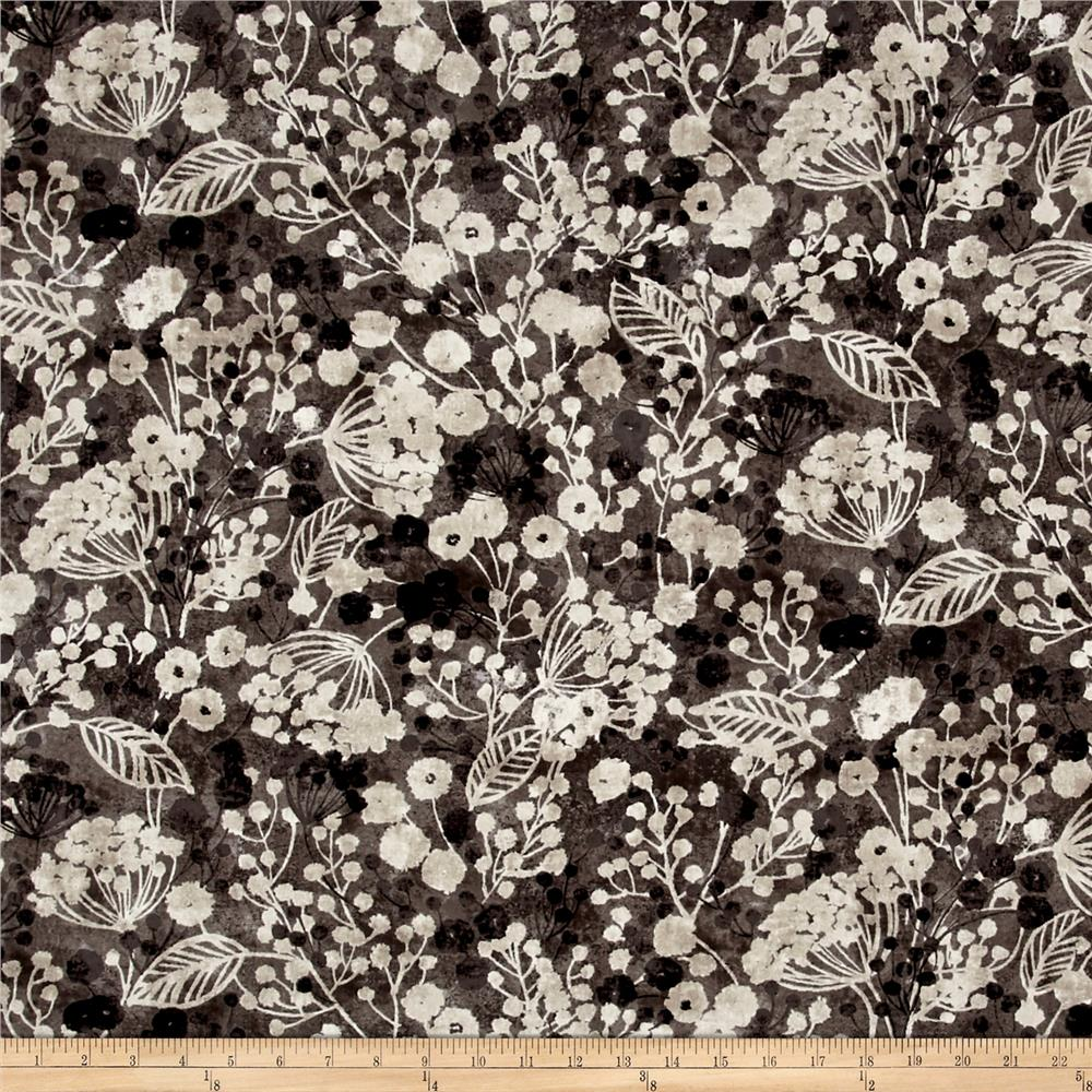 Timeless Treasures Shadow Chic Viney Floral Iron