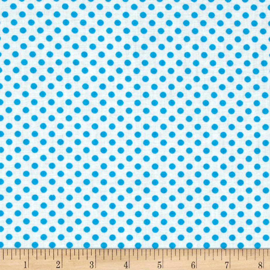 Spot On II Mini Dots White/Turquoise