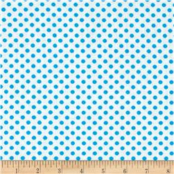 Spot On II Mini Dots White/Turquoise Fabric