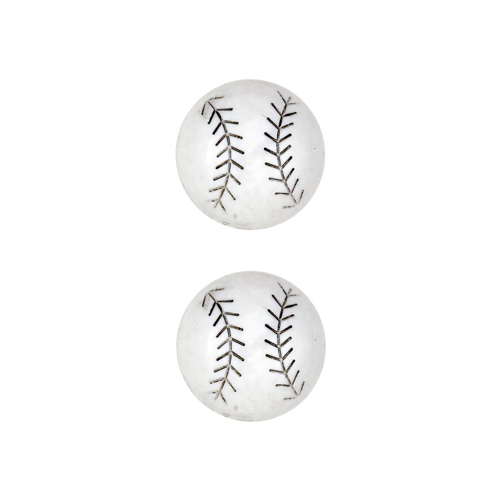 Dill Novelty Button 7/8'' Baseball White