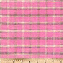 Metallic Shot Cotton Small Plaid Pink/Purple