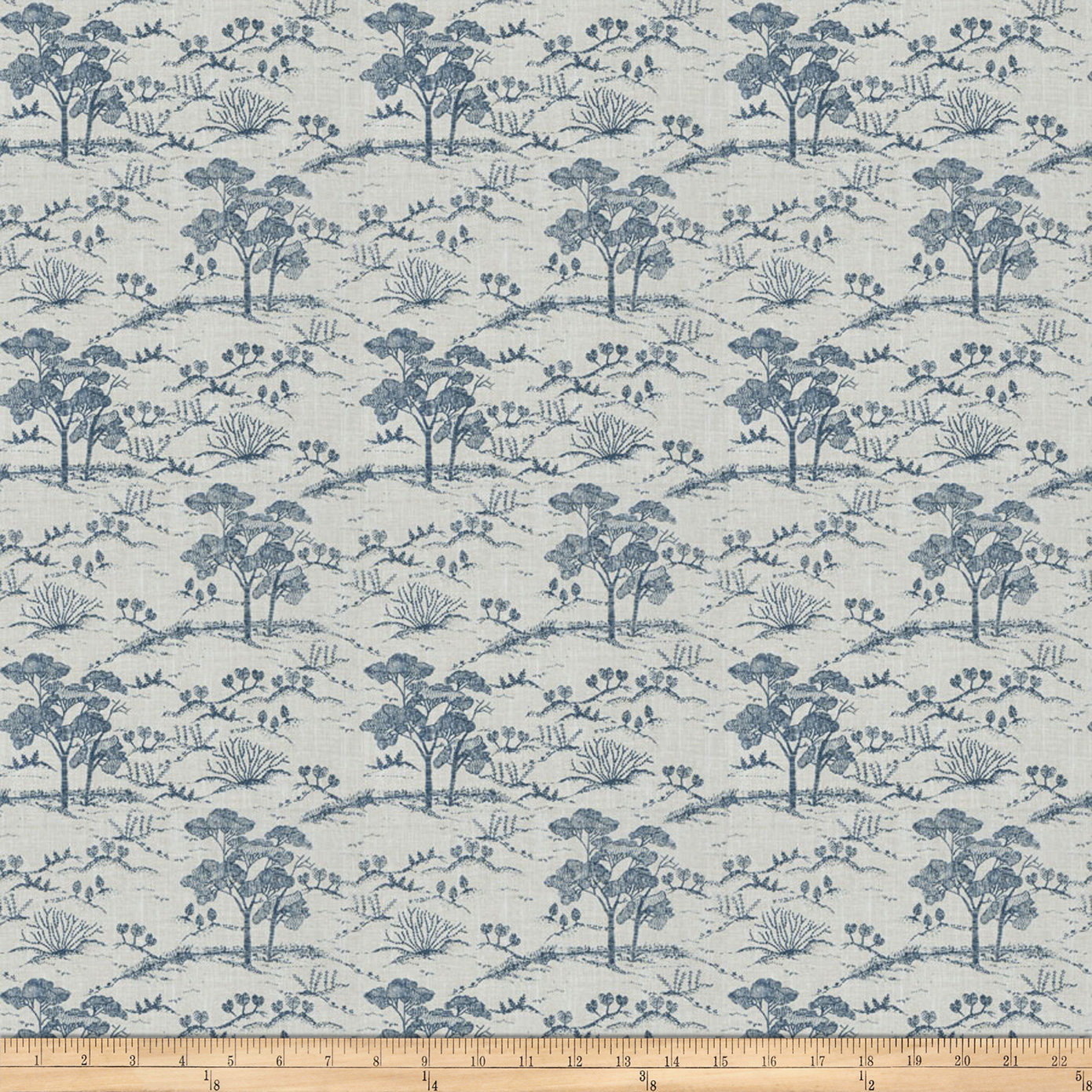 Fabricut Agriculture Toile Navy
