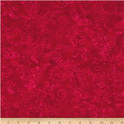 Moda Joy Batiks Frost Tonal Poinsettia Red