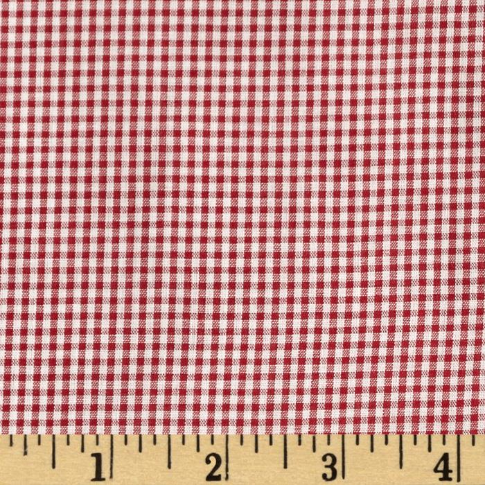 Wide Width Gingham Check 1/16'' Red