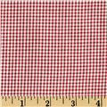 Cotton Gingham Check 1/16'' Red/White