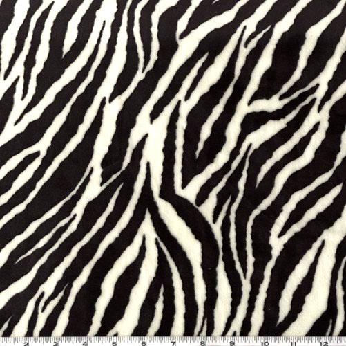 Minky Cuddle Zebra Black/White