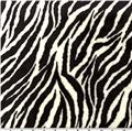 Minky Cuddle Zebra Black