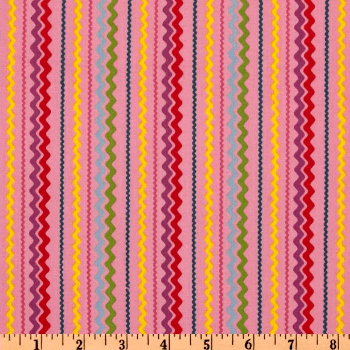Lucy's Escapades Ric Rac Stripe Pink