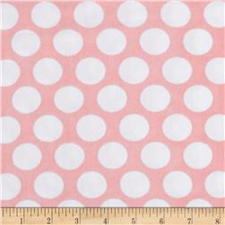 Kaufman Little Prints Double Gauze Dots Pink/White