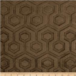 Premier Prints Embossed Geo Cuddle Brown