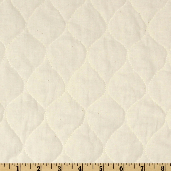 Quilted Muslin Natural Fabric