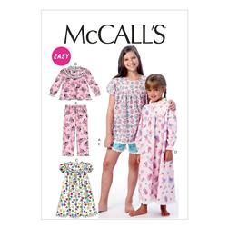 McCall's Children's/Girls' Tops, Gowns, Short and Pants Pattern M6831 Size CCE