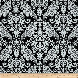 Riley Blake Large Damask Black Fabric