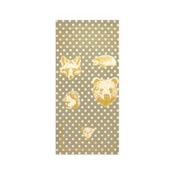 Kokka Making Cloth Oxford Metallic Animals Panel Grey