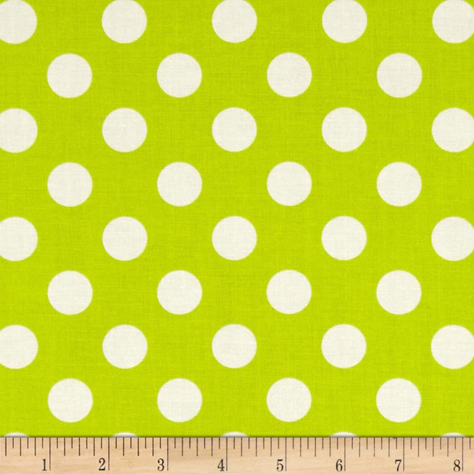 Riley Blake Le Creme Basics Medium Dots Lime/Cream