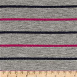 Stretch Sparkle Tissue Knit Grey/Navy/Pink