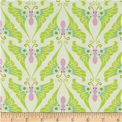 Heather Bailey Lottie Da Papillon Lime Fabric