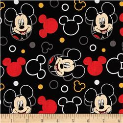 Disney Mickey Everyday Mickey Head Toss Black Fabric