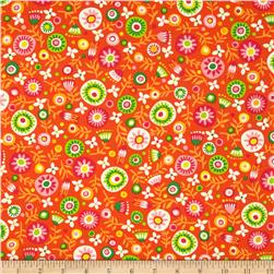 Kanvas Monkeying Around Flower Fun Orange