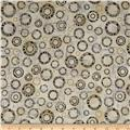 Kaufman Microlife Textures Digital Prints Circles Natural