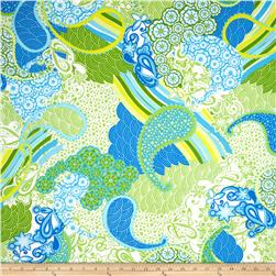 Kanvas Lilified Paisley Daze Royal/Green