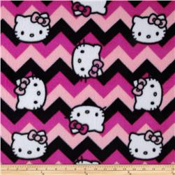 Hello Kitty Fleece Chevron Fuschia
