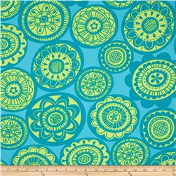 Erin Mcmorris Summersault Sateen Cartwheel Teal