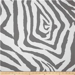 Premier Prints Indoor/Outdoor Zebra Grey