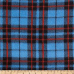 Fleece Print Plaid Blue/Red