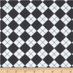 Remix Flannel Argyle Silver Fabric