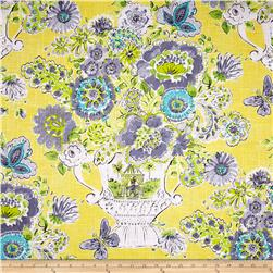 Waverly Blissful Bouquet Blend Lemon Meringue Fabric