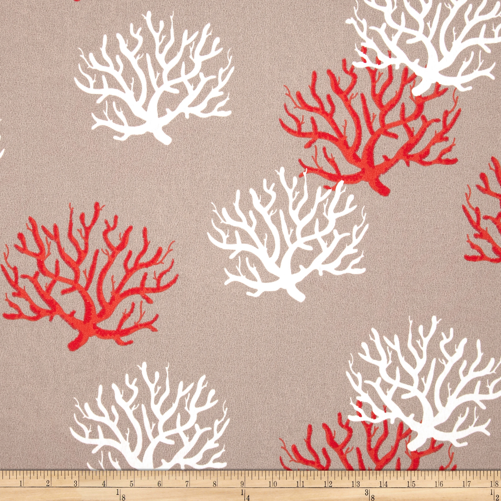 Premier Prints Indoor/Outdoor Isadella Coral Salmon Fabric